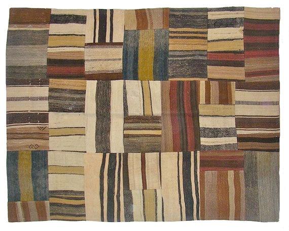 Crazy Vintage Patchwork Kilim Rug by bazaarbayar on Etsy