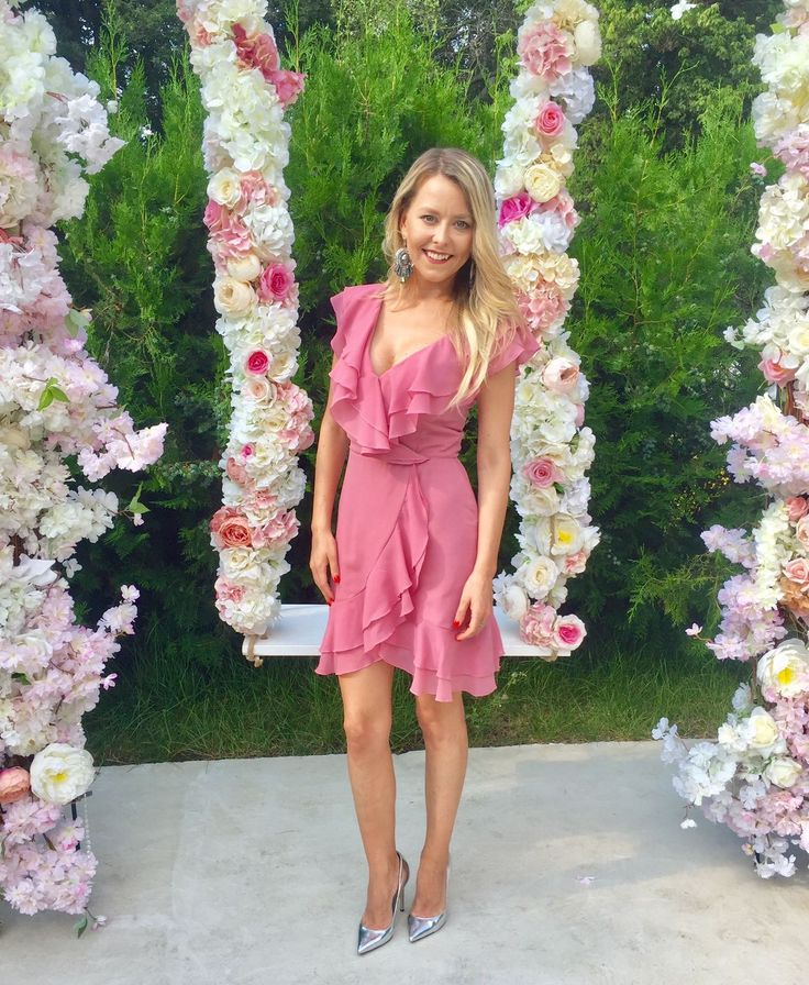 The gorgeous @dianaparvu, chose to enjoy this lovely summer day wearing the new pink Brianna dress by MissGrey