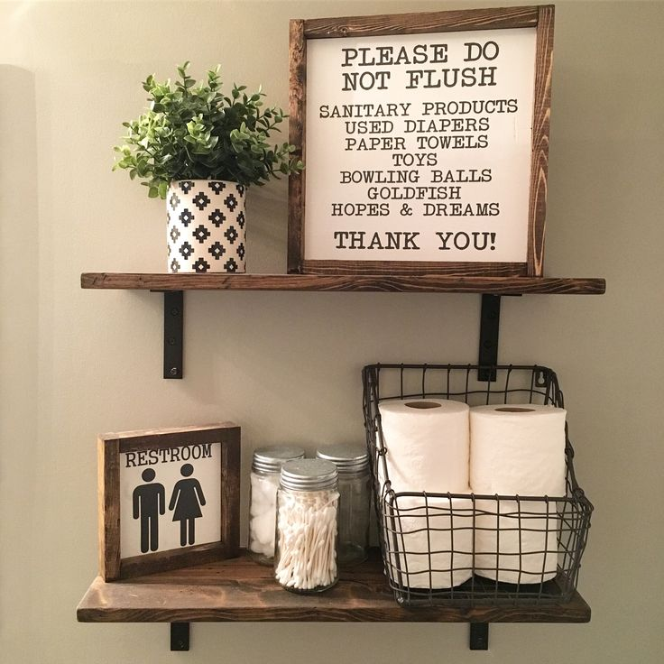 Farmhouse Decor | Bathroom Decorations| Half Bathroom | Master Bathroom | Kids Bathroom | Wood Signs | Wall Decor | Fixer Upper