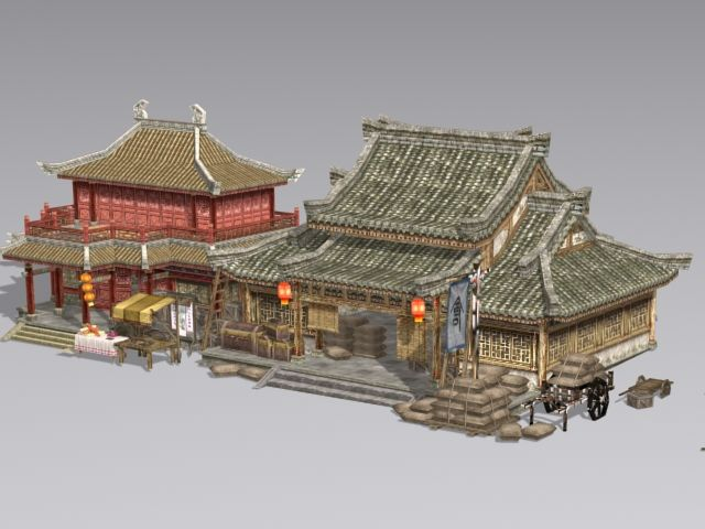 Ancient Chinese Architecture Buildings 3d Model 3ds Max Files Free Download Modeling 3959 Chinese Architecture Ancient Chinese Architecture Chinese Buildings