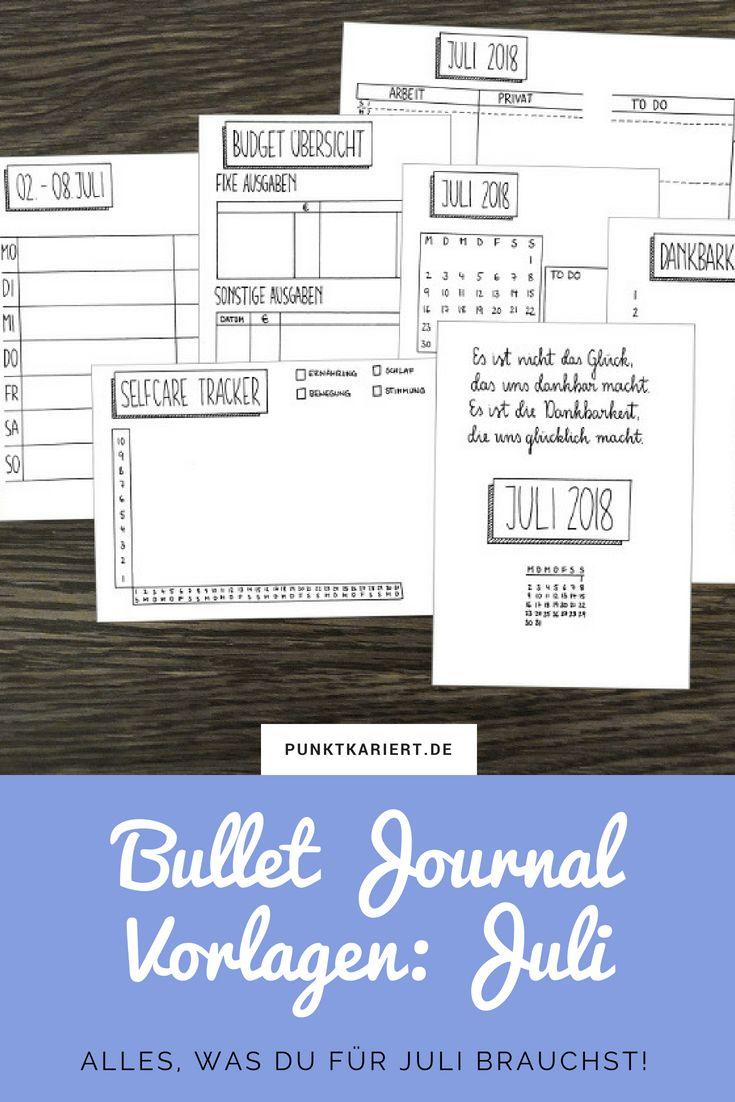 153 best Bullet Journal Monatsübersicht images on Pinterest ...