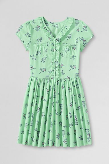 Crisp Honeydew Pocket Dress #TwirlPower Lands' End Kids - Spring 2014