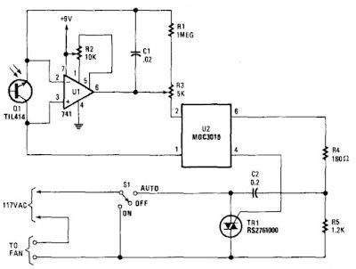 Electronic Smart Heater Controller Circuit Diagram