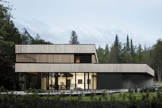 Maison à ossature métallique sur terrain à forte pente - plan maison structure metallique