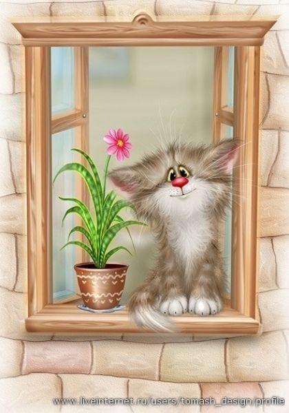 Большая коллекция иллюстраций с котиками от Алексея Долотова (Xenopus) »