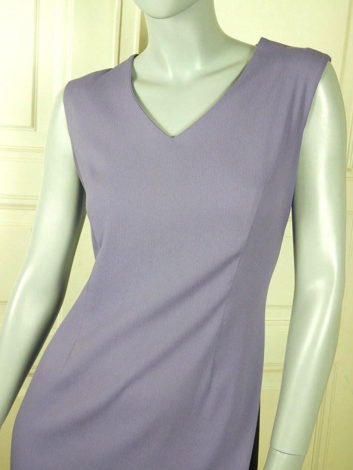 Finnish Vintage Sheath Dress, Lilac Midi Length European Sleeveless Dress, Purple Retro Dress: Size 10 US, Size 14 UK by YouLookAmazing on Etsy