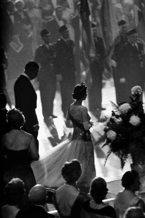 Queen Elizabeth in New York, 1957. Photo by Burt Glinn
