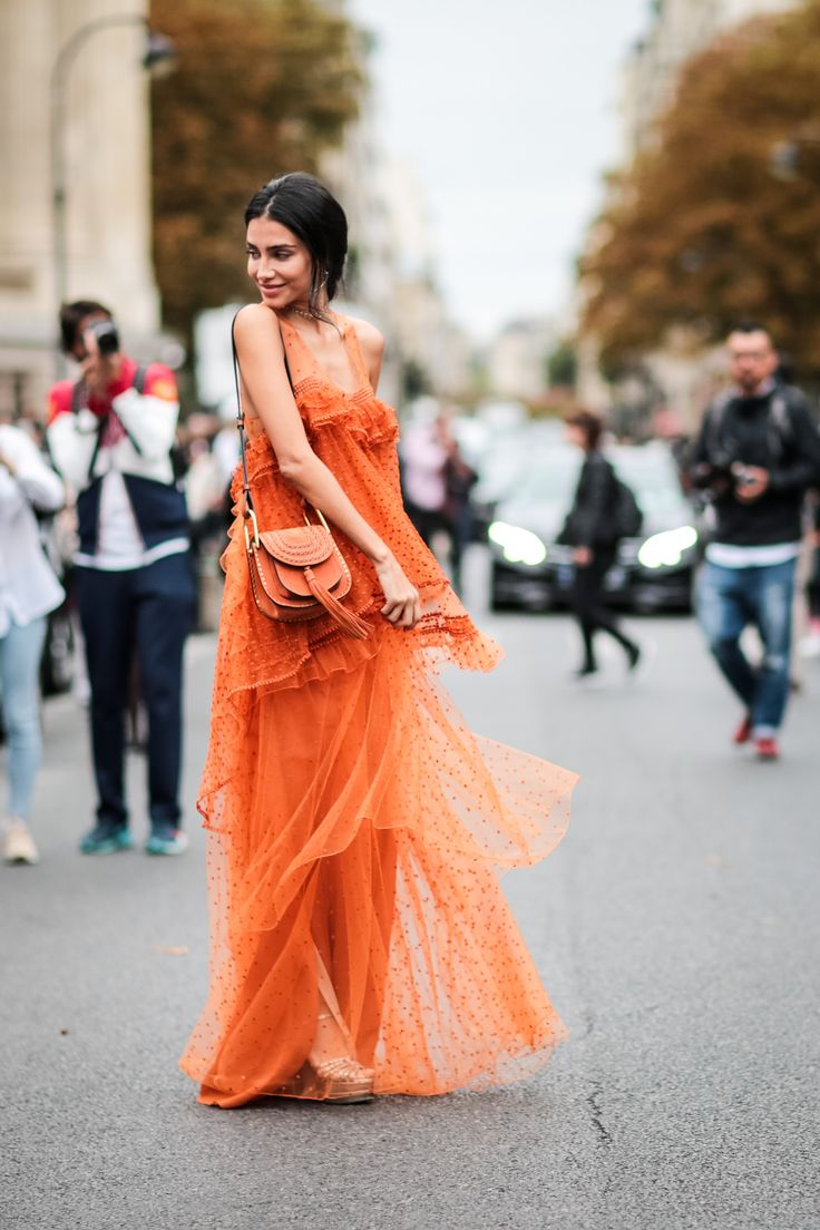 Tangerine in Paris. Paris fashion week is back, and as always the street is where the major style can be found.