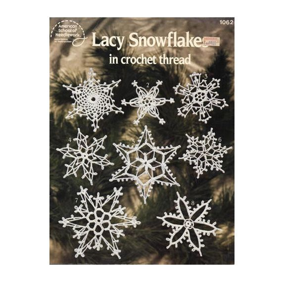 Lacy Snowflakes Crochet Craft Book by CJVintageTreasures on Etsy, $3.00