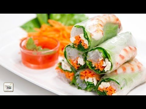 Rollitos de verano con salsa de chili dulce - Cocina Vietnamita   Kwan Homsai