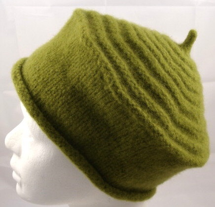 Knitted felted hat / cloche