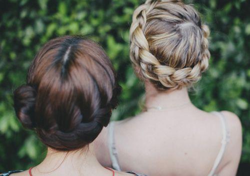 pretty braid crowns