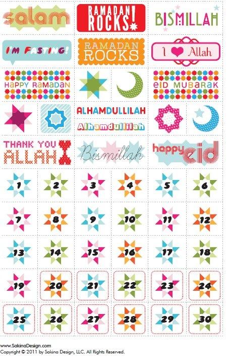 Ramadan Stickers.