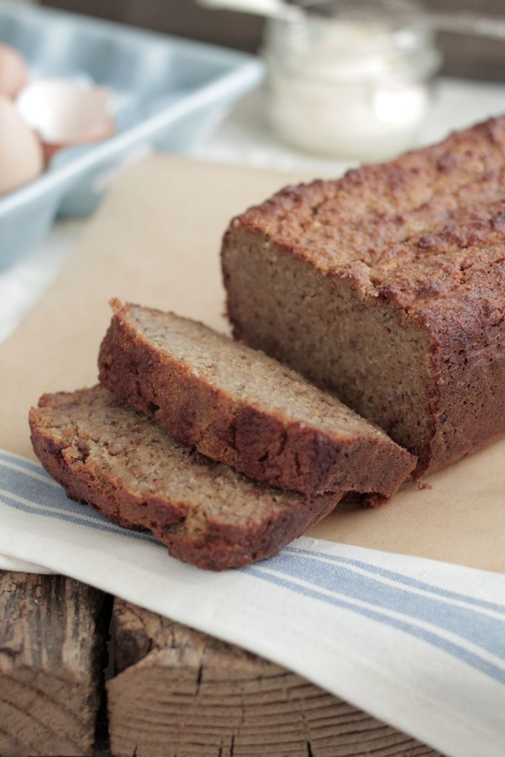 THE BEST Banana Bread Grain-Free: can split almond and coconut flours. Muffins: 12-15, bake 350* for 30 mins