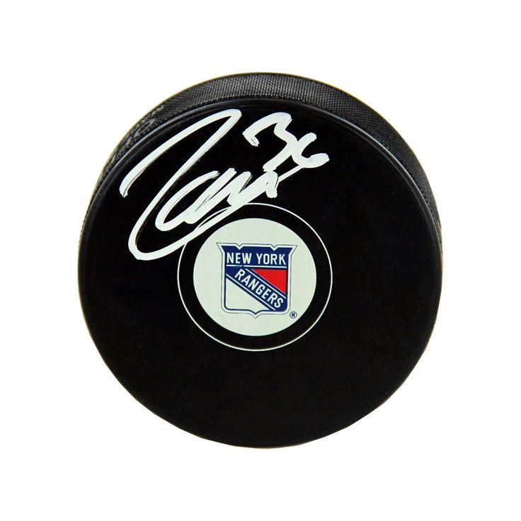 Steiner Sports Mats Zuccarello New York Rangers Autographed Hockey Puck, Multicolor