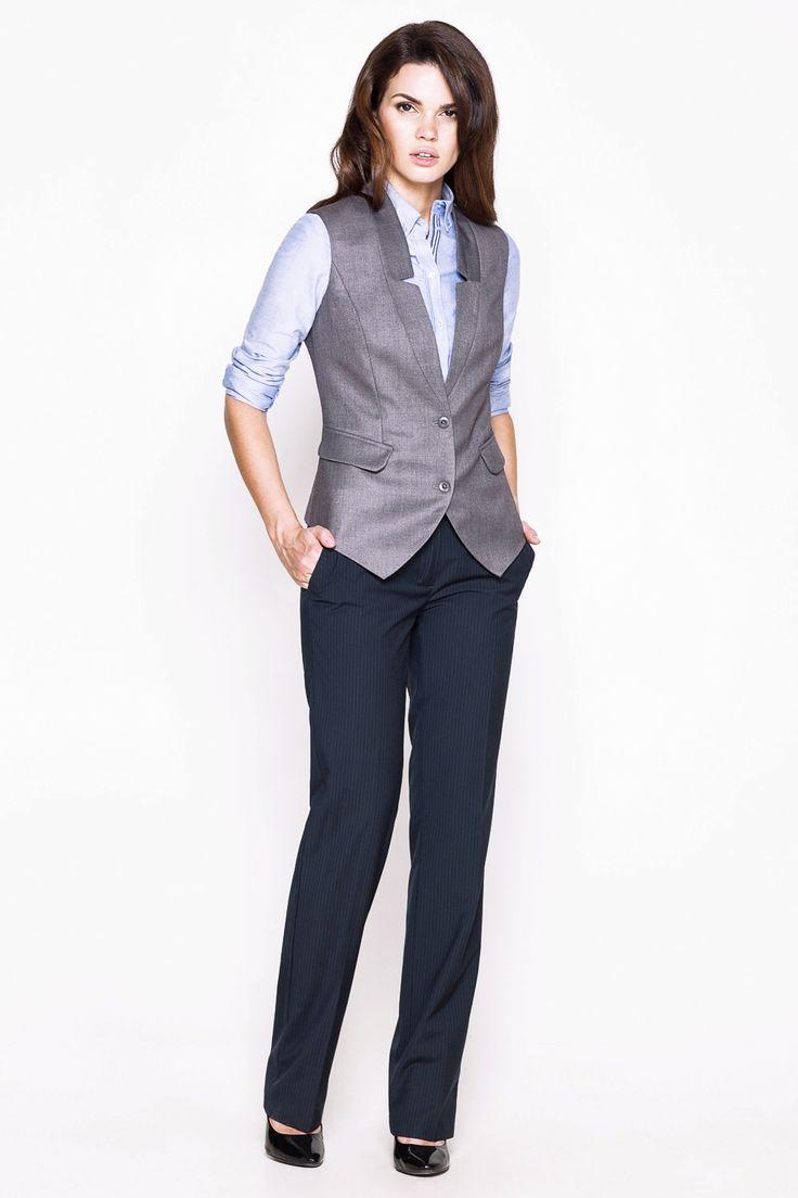 Жилет женский серый (54000021) размеры XS, S, M, L. Купить дешево в интернет-магазине Concept Club.
