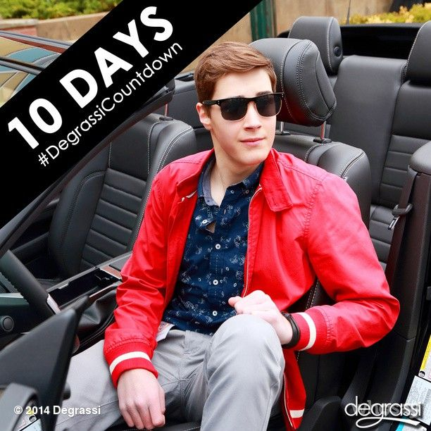 Only 10 days until #Degrassi returns to MTV Canada & TeenNick! Tuesday, October 28th, 9 pm ET. #OhHiMiles #DegrassiCountdown #EricOsborne
