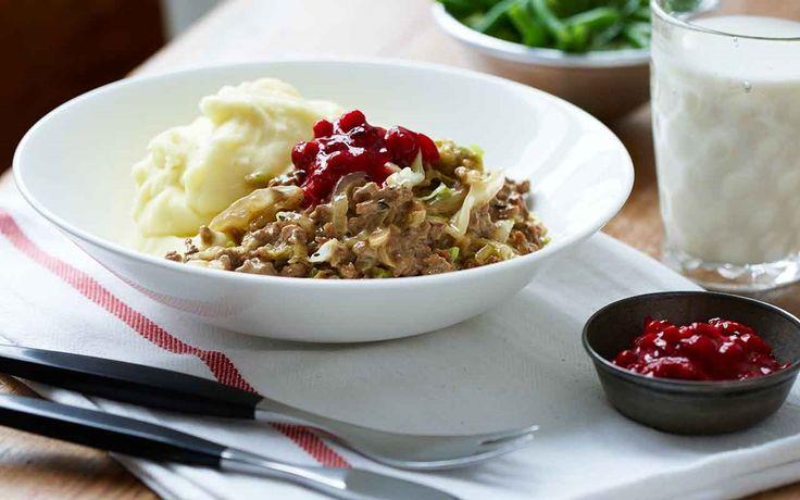Köttfärssås med vitkål - Recept - Arla