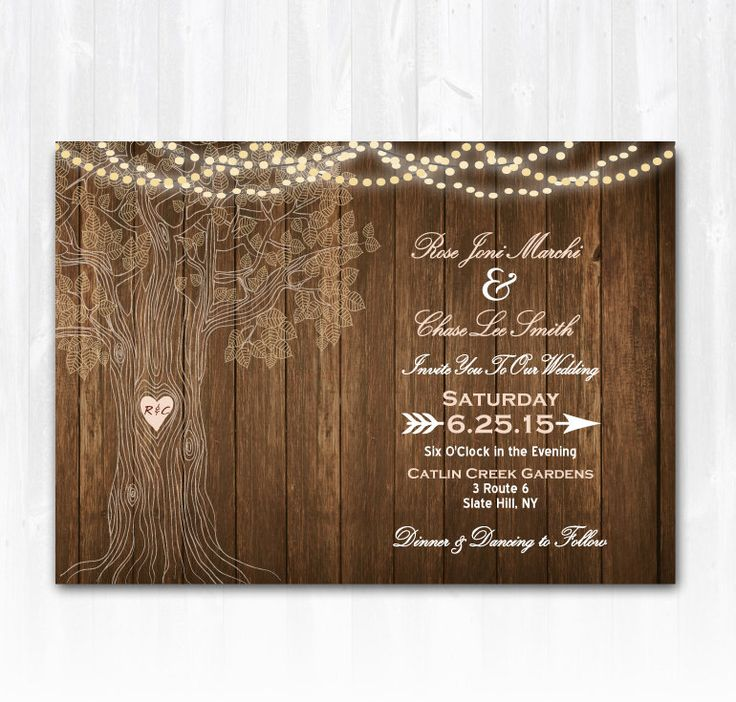 Best 25 Tree Wedding Invitations Ideas On Pinterest Diy
