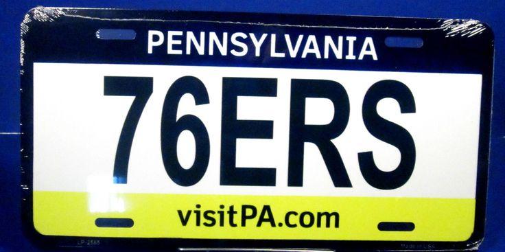 Novelty license plate NBA Philadelphia 76ers new basketball auto tag aluminum