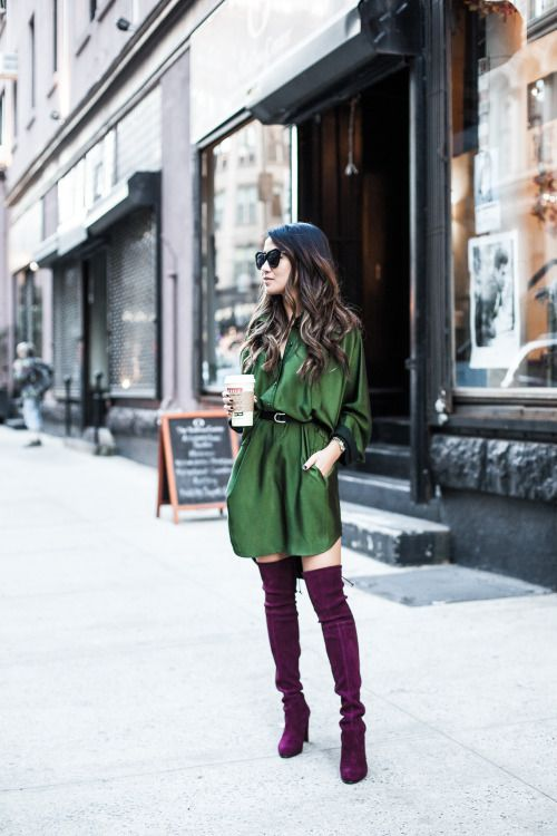 In love with these violet over the knee boots