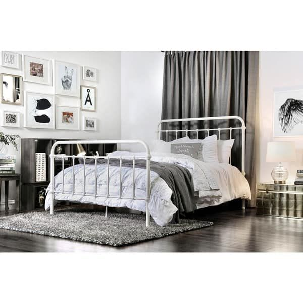 Furniture Of America Norielle Rustic Metal Powder Coated Panel Bed