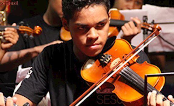 Cursos gratuitos de instrumentos de Orquestra no Sesc Ilhotas