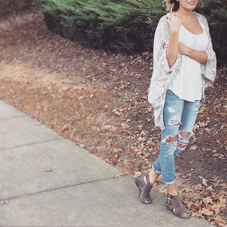 Chocolat Blu Shoes. Ripped Jeans.  See this Instagram photo by @laurenazline • 38 likes