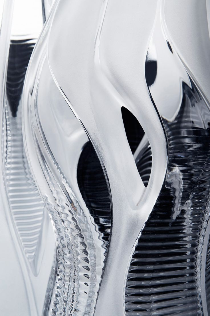 lalique presents crystal architecture collection by zaha hadid