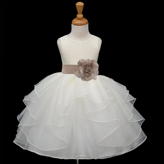 *Material: Stunning and Elegant Shimmering Poly Satin / Satin Lining / Shimmering Organza *Color: Ivory / Removable Color of your choice tie bow $29.99