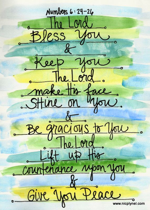 Numbers 6:24 May the Lord Bless You and Keep You by nicplynel