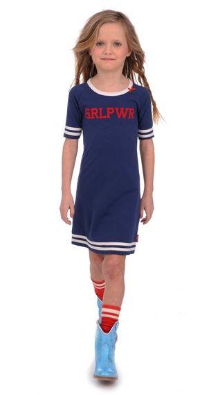 Dress Stripe Met zelf te kiezen opdruk - Brand for Girls