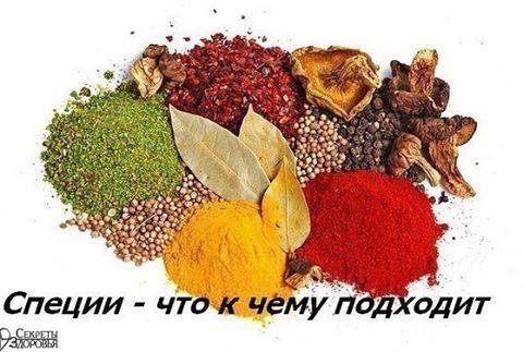СПЕЦИИ – ЧТО К ЧЕМУ ПОДХОДИТ.  ДЛЯ РЫБЫ: лавровый лист, белый перец, имбирь, душистый перец, лук, кориандр, перец чили, горчица, укроп, тимьян.  ДЛЯ ГРИЛЯ: красный перец, душистый перец, кардамон, тимьян, майоран, мускатный орех и мускатный цвет, тмин, имбирь, перец чили.  ДЛЯ РАГУ: красный перец, имбирь, куркума, кориандр, горчица, кардамон, тмин, черный перец, душистый перец, мускатный орех, гвоздика.  ДЛЯ КАПУСТЫ: кориандр, фенхель, кумин, семя черной горчицы.  ДЛЯ КАРТОФЕЛЯ: кориандр…