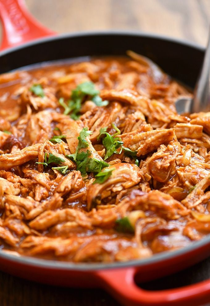 Mexican Chicken Tinga Recipe Recipes Chicken Mexican Dishes
