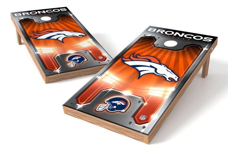Denver Broncos Cornhole Board Set - Plate