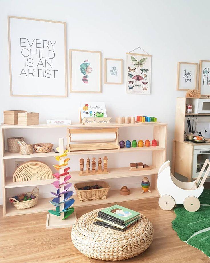 Montessori Kid Bedroom Play Area Kid Room Decor Kids Room