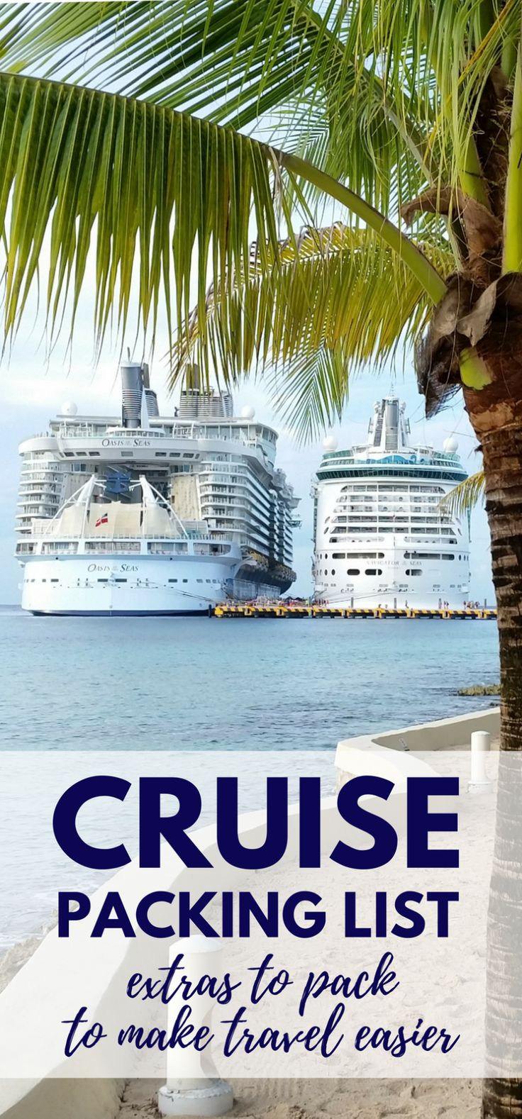 For what to pack for a cruise, some packing tips to add to checklist. Also what to wear on a cruise formal night, outfit ideas. Cruise tips, whether it's a short cruise or a 7 day cruise in the summer or winter, with some essentials to add to your cruise packing list and carry-on luggage. Cruise to Bahamas, Caribbean, Alaska with Carnival, Royal Caribbean, Norwegian NCL, Disney, Princess, Holland America. Cozumel cruise port, western caribbean cruise. #cruise #cruisetips