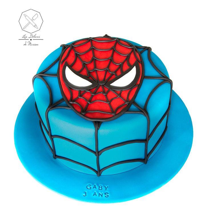 cake design g teau personnalis en p te sucre sur le th me spiderman sugar paste spiderman. Black Bedroom Furniture Sets. Home Design Ideas