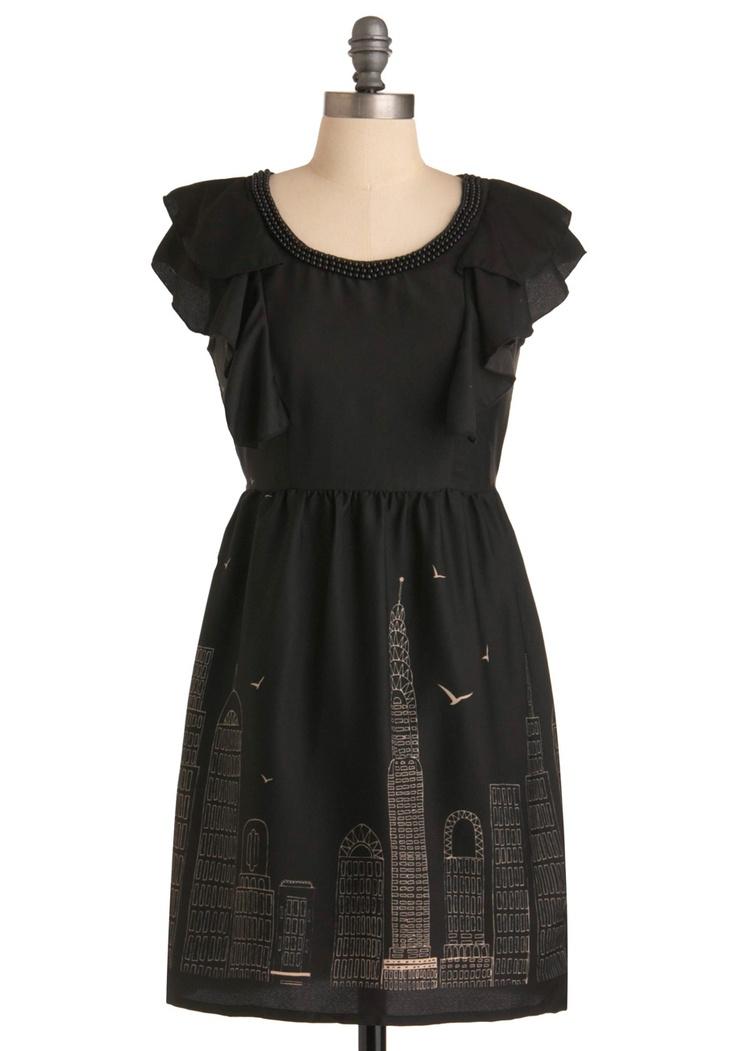 Skyline Sketchbook Dress