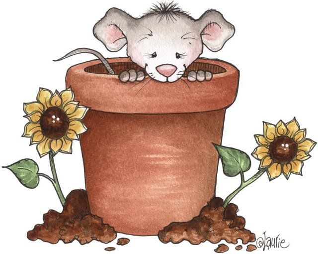 valentine mouse art project