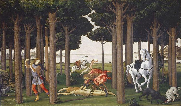 12.2 Historia de Nastagio degli Onesti. II episodio. Boticcelli. 1483.