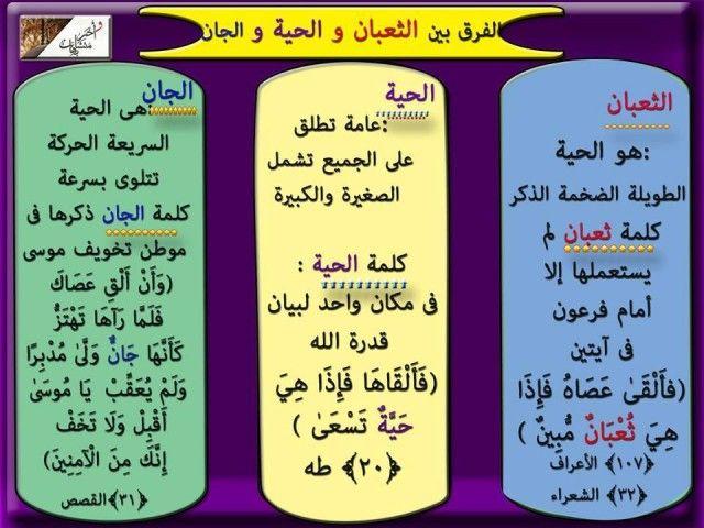 معاني بعض الألفاظ المتشابهة في القرآن الكريم ملتقي مقاومي التنصير Beautiful Arabic Words Holy Quran Arabic Lessons