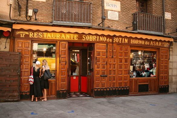 The oldest restaurant in the world is this old-world Spanish eatery, still known for its suckling pig.