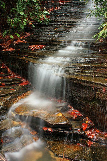 Angel Falls near Lake Rabun in North Georgia ♥ ♥
