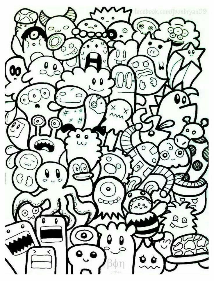 Pin Oleh 김 영 애 Di Reallife Doodle Seni Doodle Sketsa