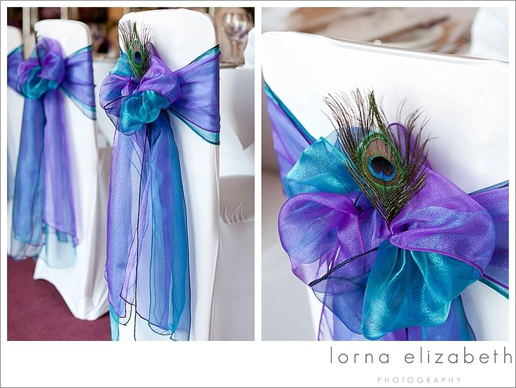18 Port Lympne wedding photos peacock colours wedding theme chair covers by Flair for chairs