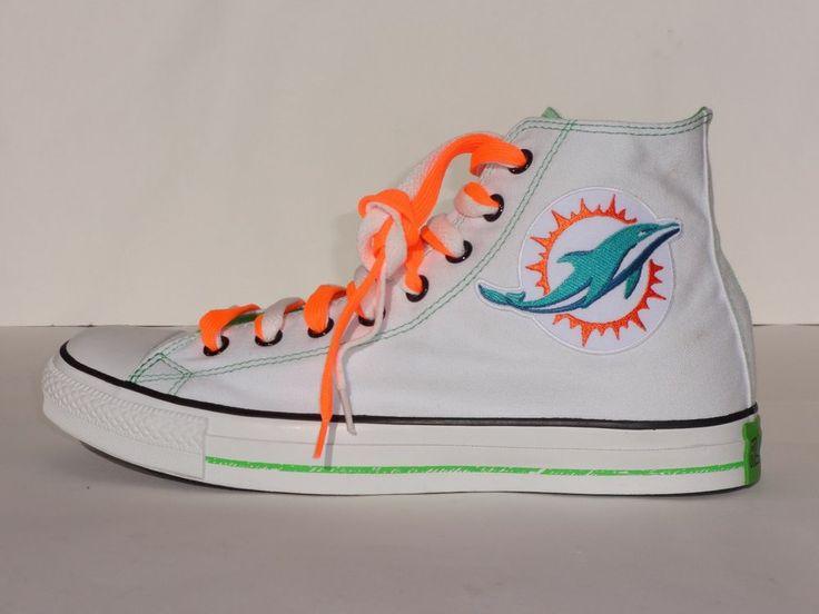 Miami Dolphins Converse All Star CT Logos Hi ( New Logo ) Sizes 7-11