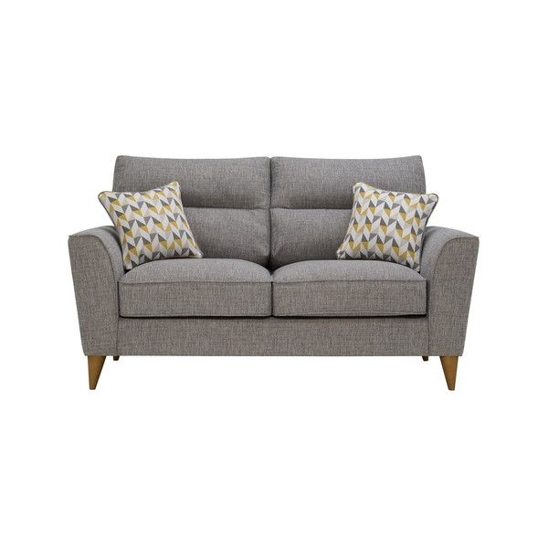 Strange Jensen Silver 2 Seater Sofa With Zest Accent Cushions Alphanode Cool Chair Designs And Ideas Alphanodeonline