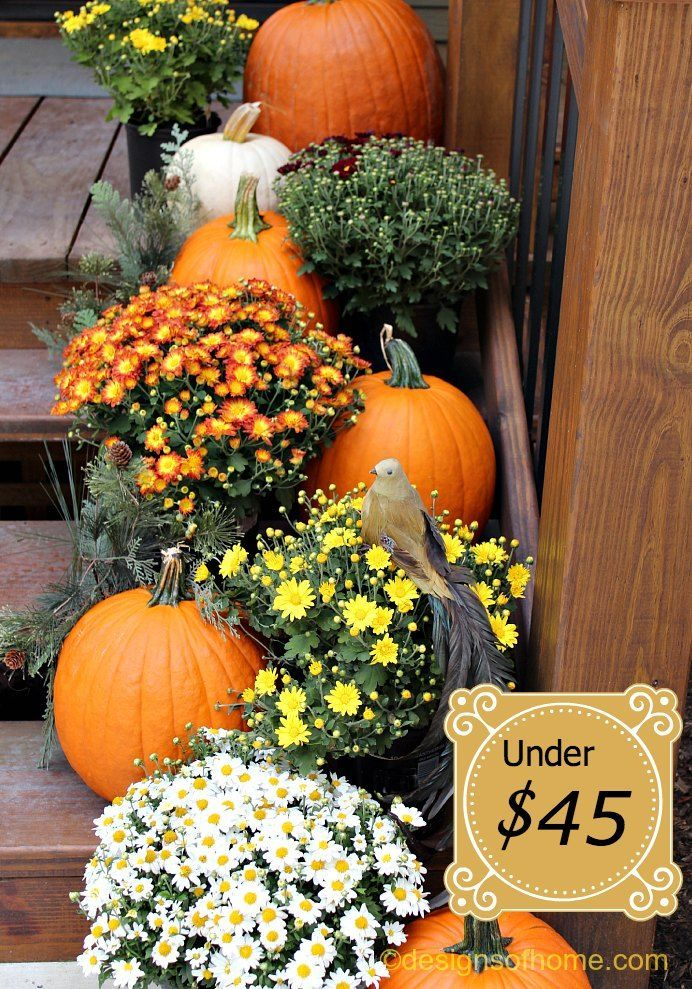 Outside Fall Decor must do for my steps next year!!!