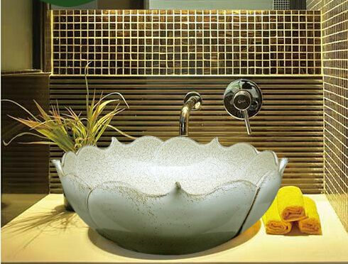 Pic Of Cheap vanity wash basins Buy Quality wash basin directly from China counter basin Suppliers Creative Decoration Lotus sink bathroom vanity wash basin
